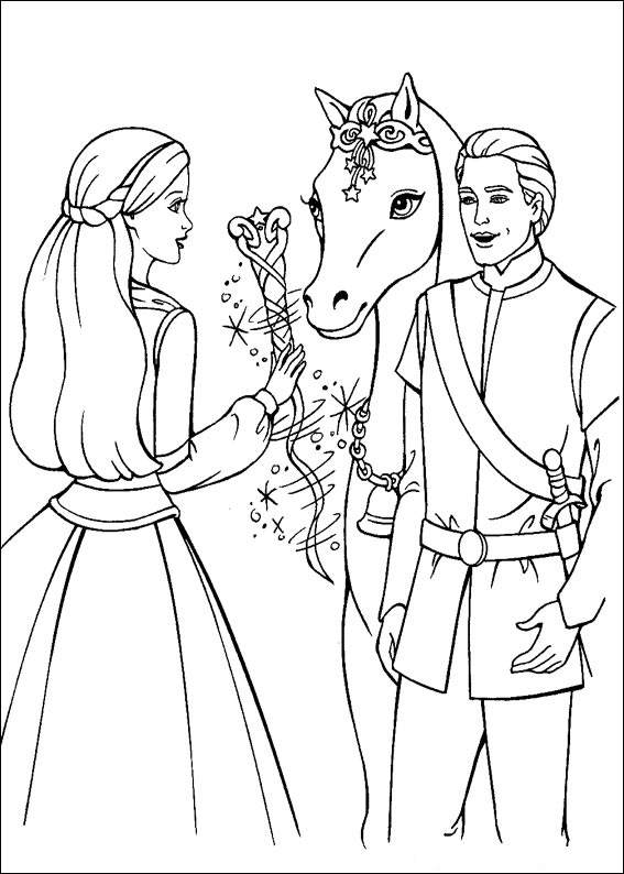 Barbie and The Magic Pegasus Colouring Sheets 1