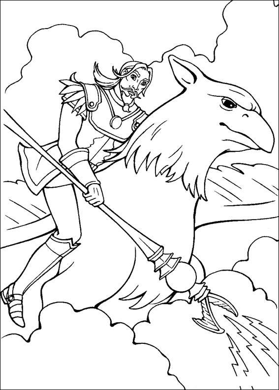 Barbie and The Magic Pegasus Colouring Sheets 2