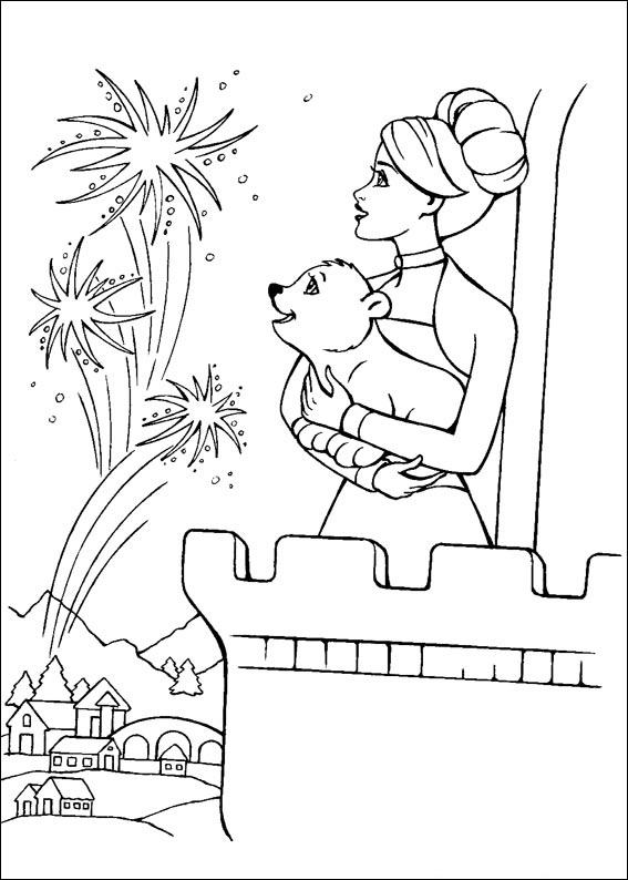 Barbie and The Magic Pegasus Colouring Sheets 3