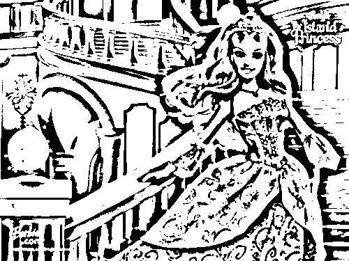 Barbie as The Island Princess Colouring Sheets 1