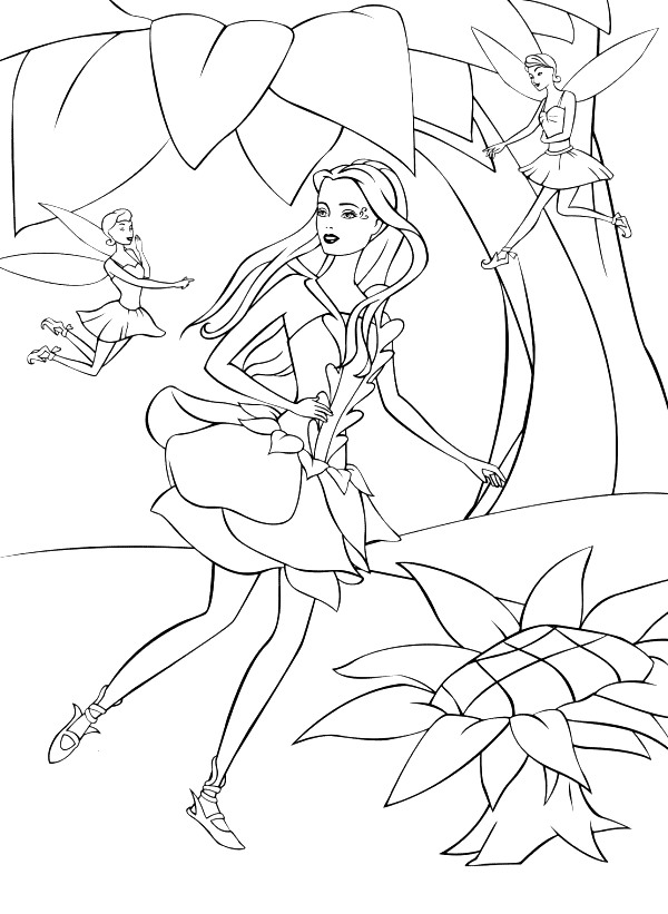 Barbie Fairytopia Colouring Sheets 1