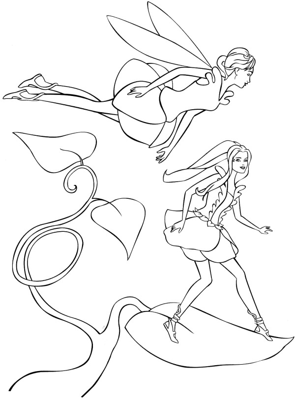 Barbie Fairytopia Colouring Sheets 2
