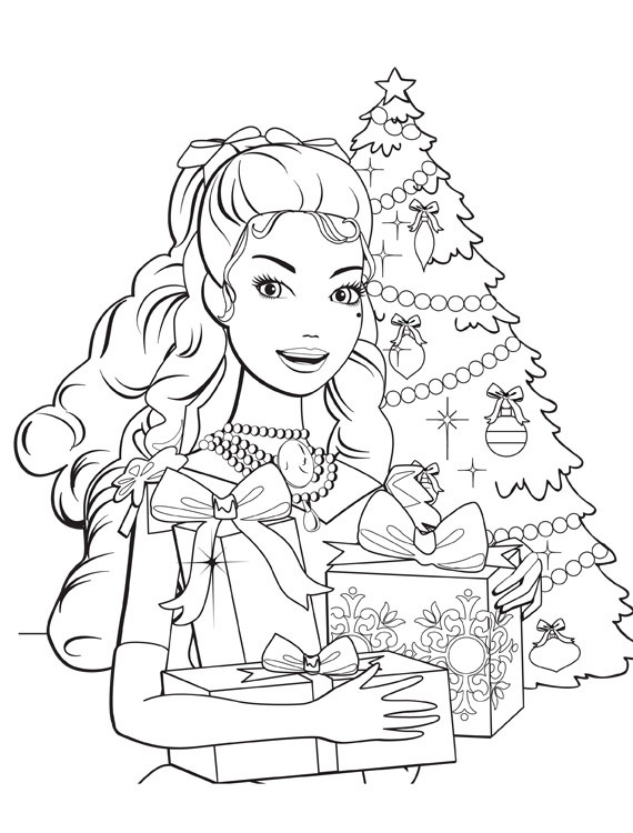 Barbie in a Christmas Carol Colouring Sheets 1
