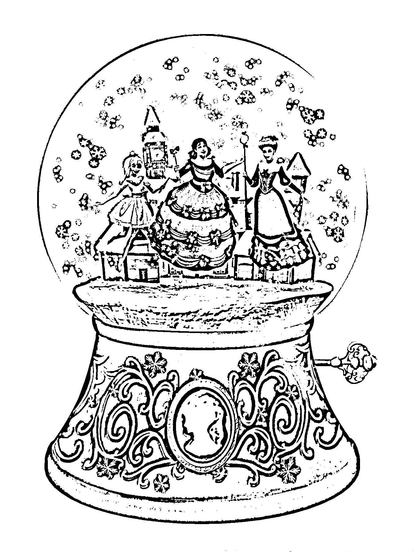Barbie in a Christmas Carol Colouring Sheets 2