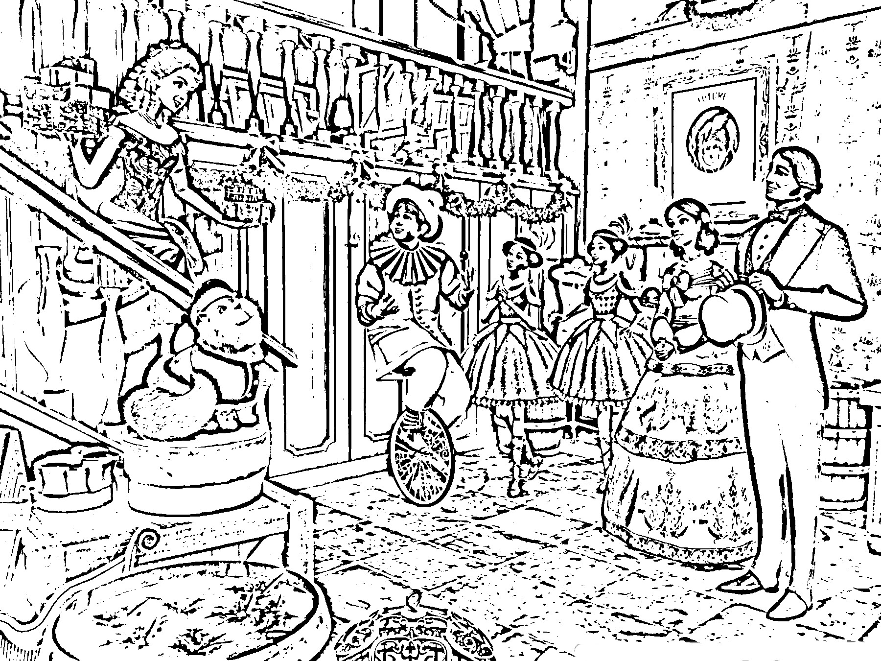 Barbie in a Christmas Carol Colouring Sheets 3