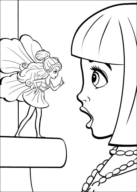 Barbie Thumbelina Colouring Sheets 2
