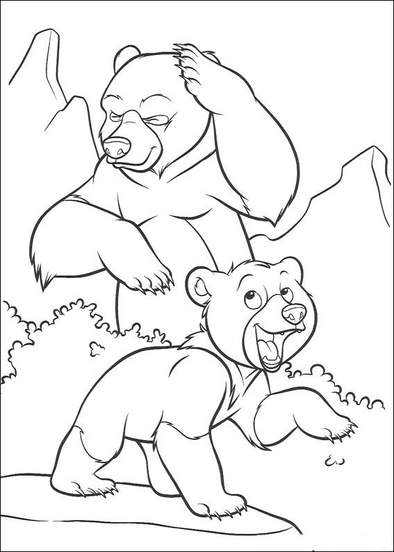 Brother Bear Colouring Sheets 3