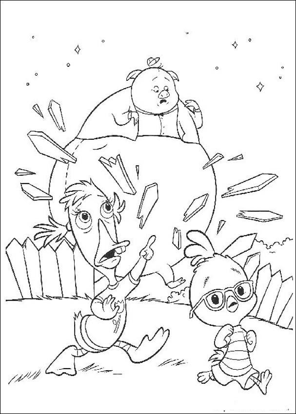 Chicken Little Colouring Sheets 1