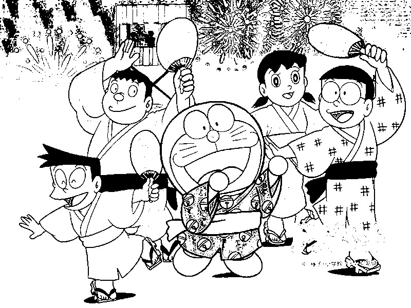 Doraemon Colouring Sheets 3