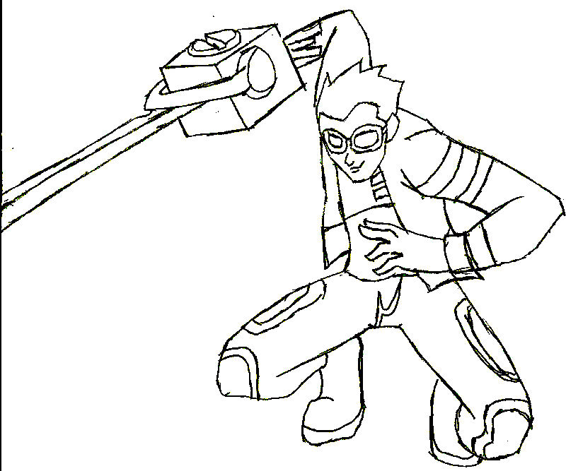 Generator Rex Colouring Sheets 1