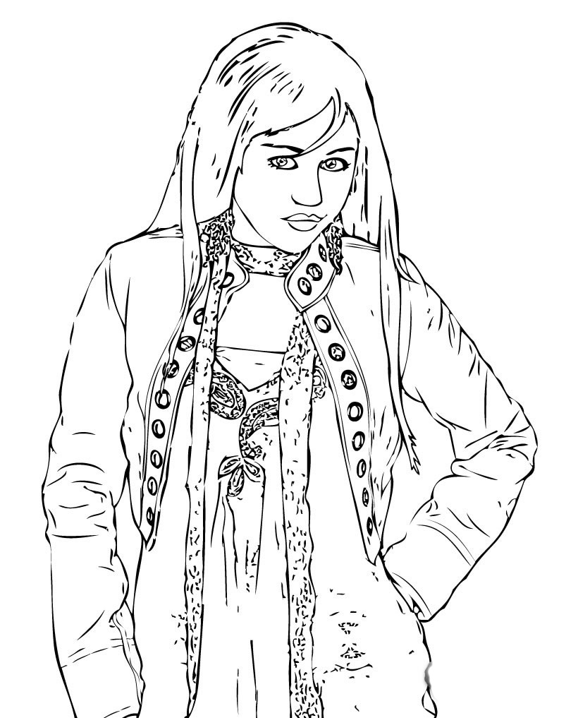 Hannah Montana Colouring Sheets 2