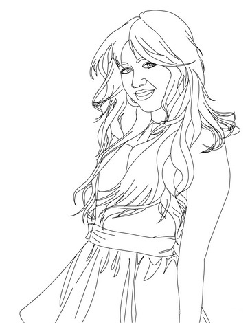 Hannah Montana Colouring Sheets 3