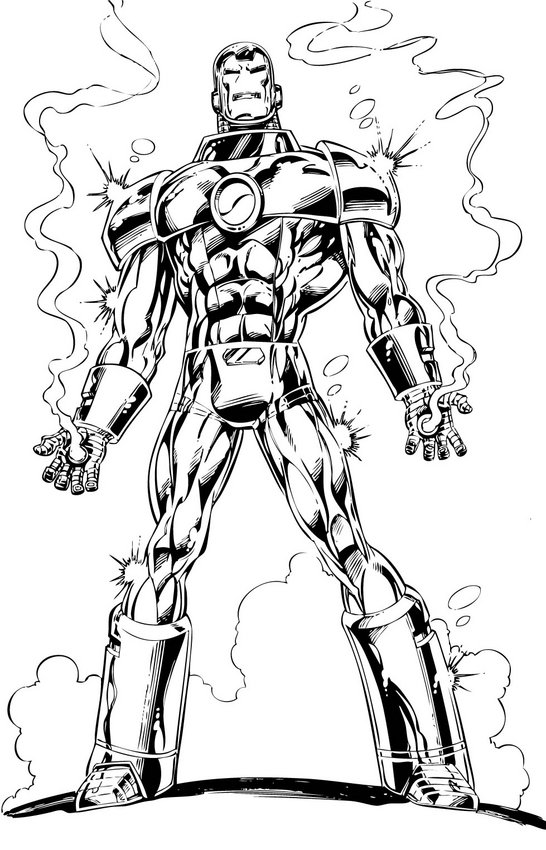 Iron Man Colouring Sheets 2