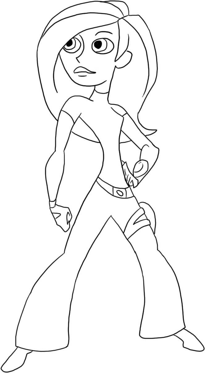 Kim Possible Colouring Sheets 1