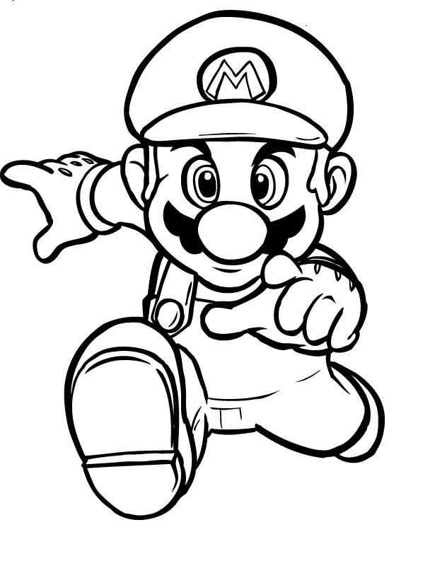 Mario Colouring Sheets 2