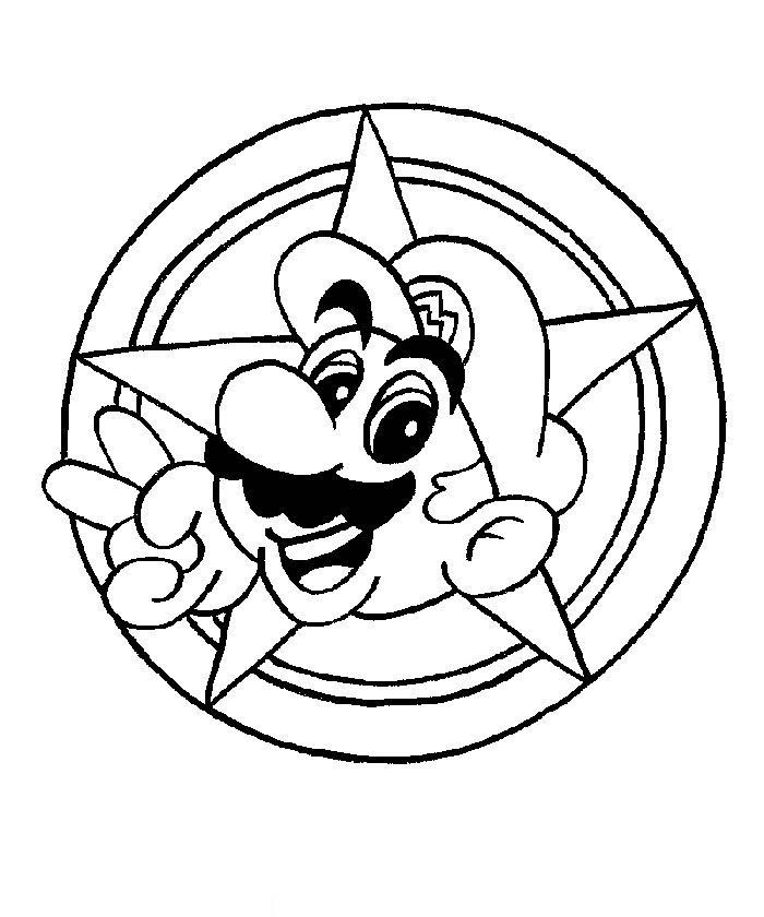 Mario Colouring Sheets 3