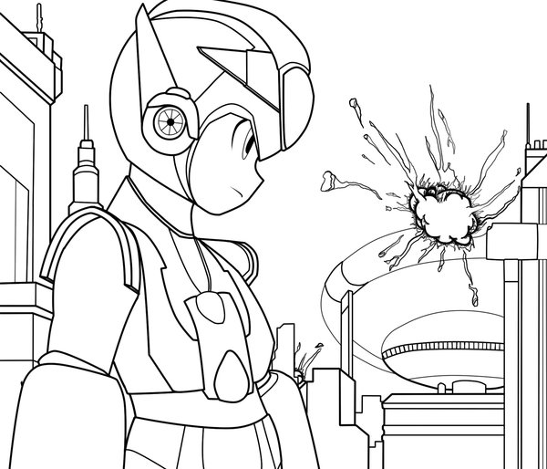 Megaman ZX Colouring Sheets 2