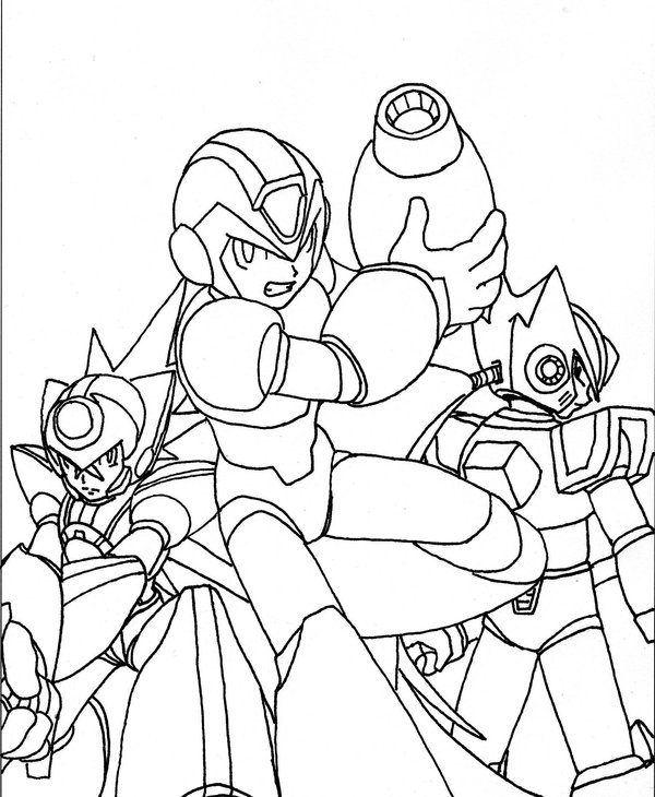 Megaman ZX Colouring Sheets 3
