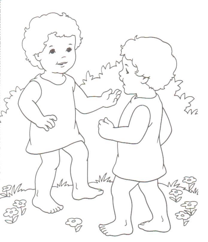 Jacob And Esau Coloring Page Preschool
