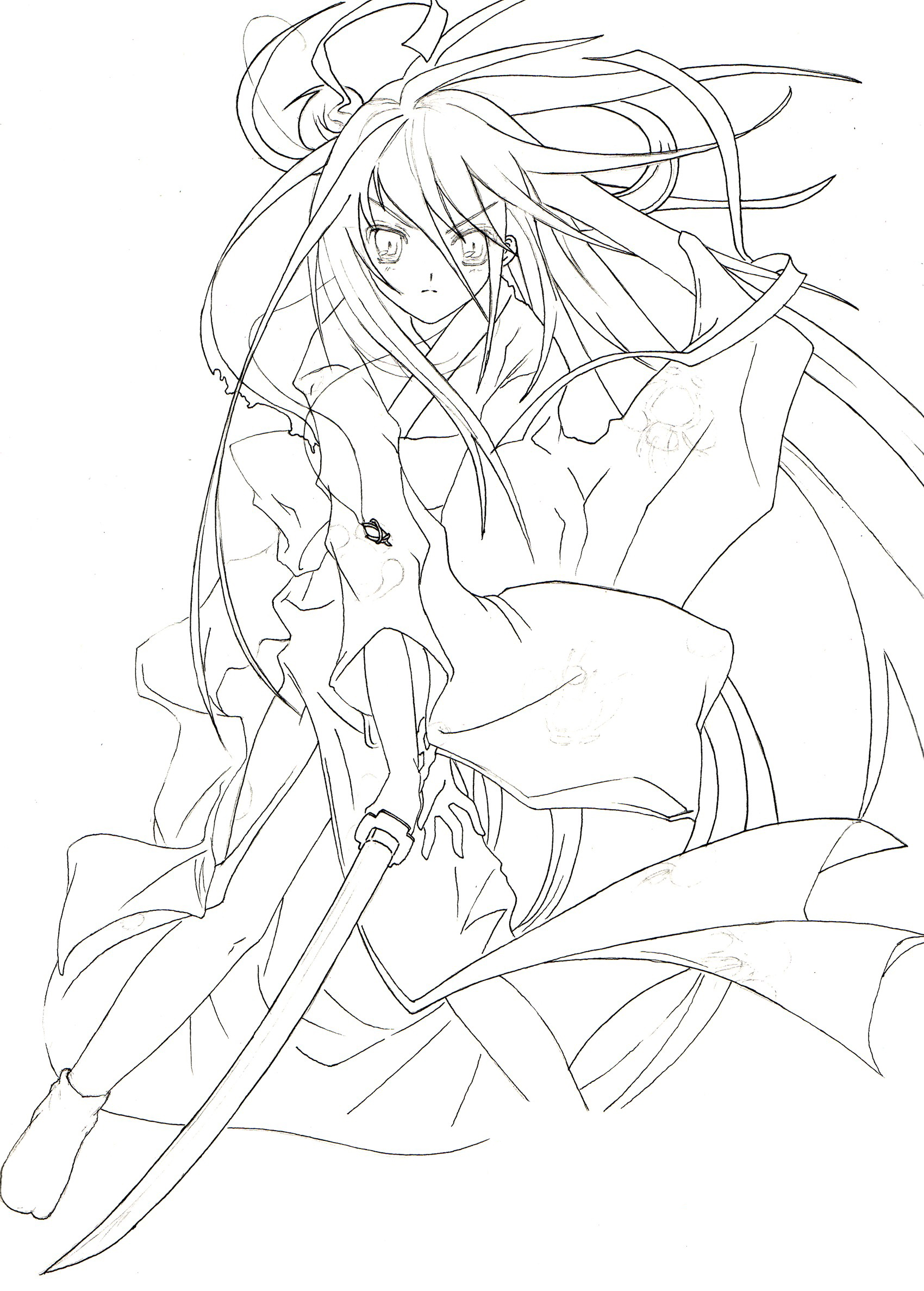 Shakugan No Shana II Colouring Sheets 3