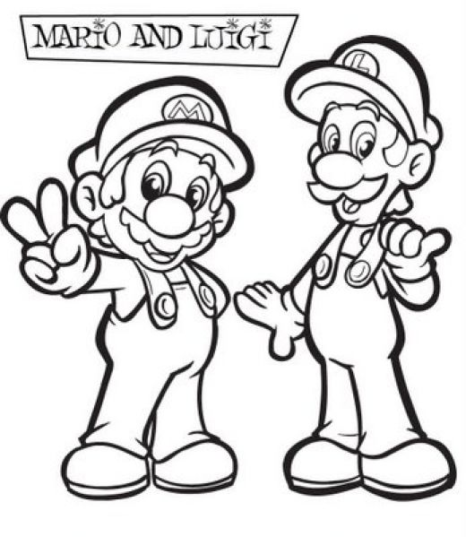 Super Mario Colouring Sheets 1