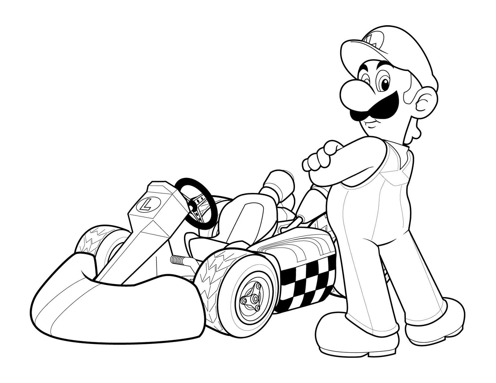 Super Mario Colouring Sheets 2