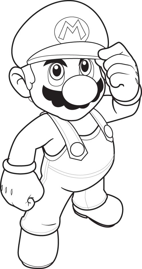 Super Mario Colouring Sheets 3