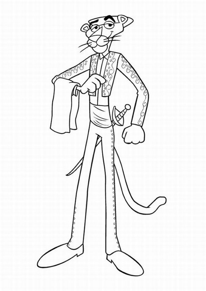 The Pink Panther Show Colouring Sheets 3