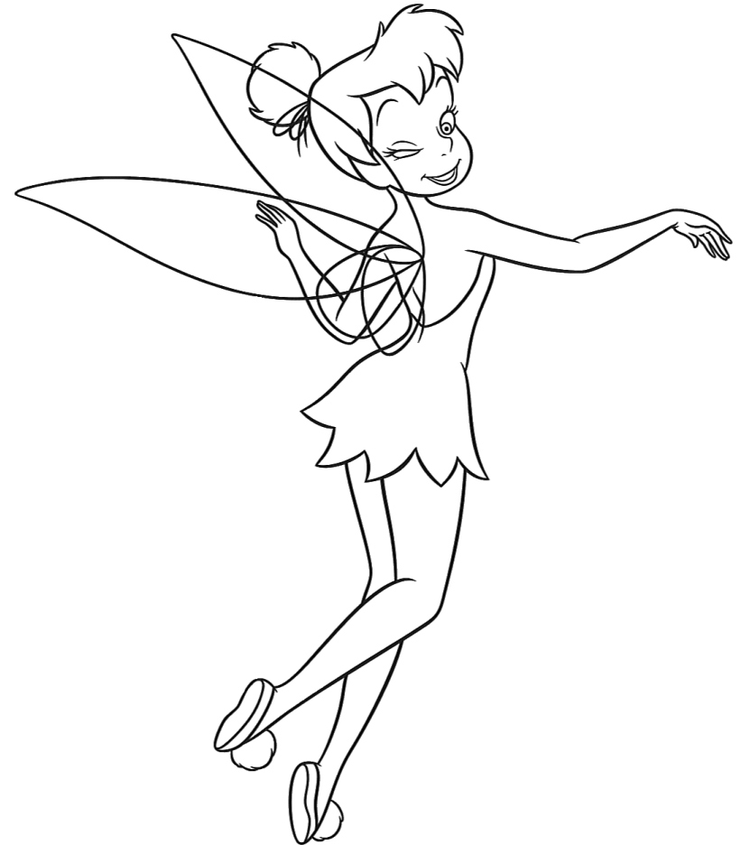 Tinkerbell Colouring Sheets 3