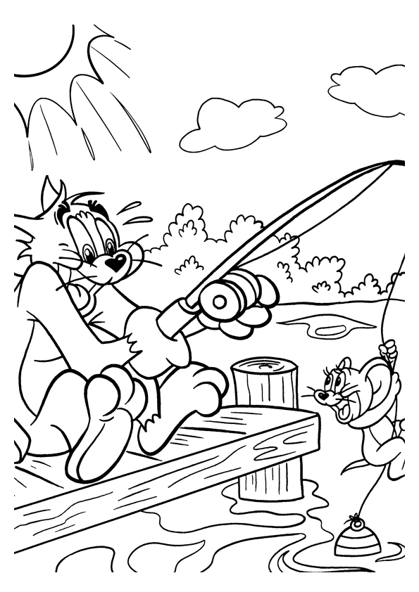 Tom and Jerry The Movie Colouring Sheets 1