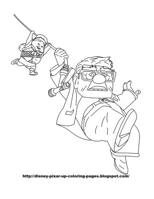 Up Colouring Sheets 1