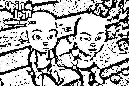 Upin Ipin Colouring Sheets 2
