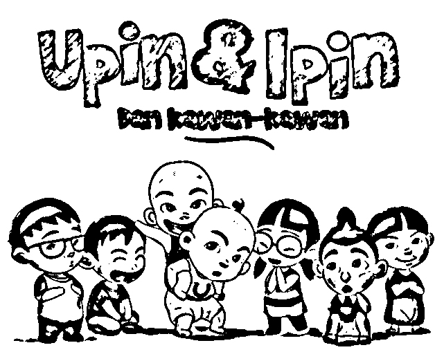 Upin Ipin Colouring Sheets 3