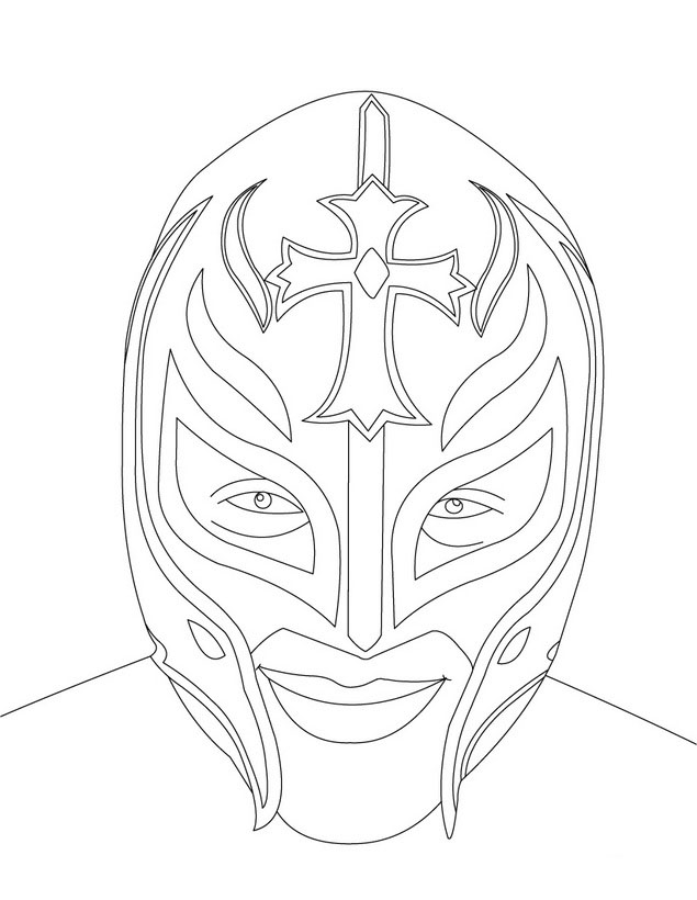WWE Colouring Sheets 1