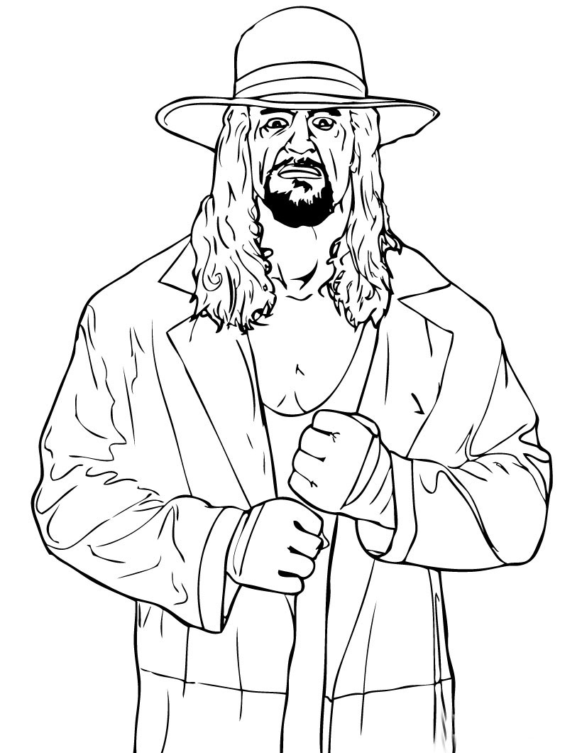 WWE Colouring Sheets 2