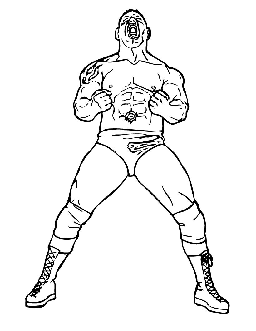 WWE Colouring Sheets 3